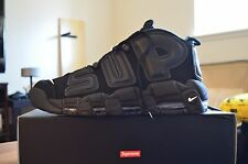 New Authentic Supreme x Nike Uptempo Black sz 11.5 Big Air Flyknit