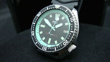 Vintage Seiko Buzos 7002 Auto Mega Mod Laguna Azul Dial Reloj De 150m J24.