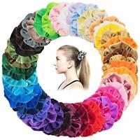 yidenguk Hair Scrunchies 50pcs Colorful Velvet Scrunchies for Hair Velvet