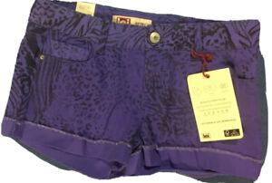 L.E.I Women's NWT Purple Cheetah Print Ashley Shorts. Size 9   FREE SHIPPING