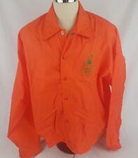 Vtg Citrus World Inc Jacket XL Orange Donald Duck Florida Oranges USA