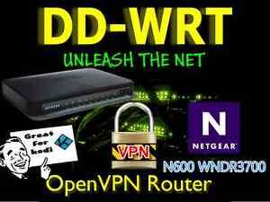 Netgear WNDR3700 N600 OpenVPN DDWRT Router - Nord, Express, Vanish, free setup