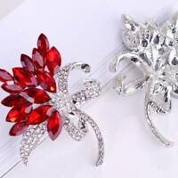 For Women Gifts Unique Trendy Crystal Broches Flower Scarf Decoration Brooch