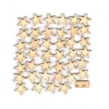70 Stück Holzsterne Sternenhimmel in 2cm Holz  Weihnachtsstern Advent Streuteil