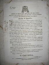 V616-STATO PONTIFICIO-BOLOGNA-TORRENTE SAMOGGIA AD ARGILE 1818