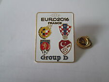 a1 SPAIN CROATIA REP CZECH TURKEY uefa euro cup france 2016 football pins