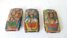 OLD Vintage-Miniature-Tin-Litho-Toy-Haritage 3 CAR