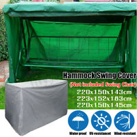 2-3 Seat Patio Swing Chair UV Waterproof Cover Canopy Outdoor Porch Garden Yard