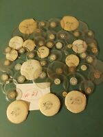 Lot 50 Vtg Round Glass Watch  Pocket Watch Crystals Round Variety Sizes New #28