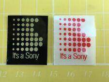 2 x Its a Sony - Vintage Walkman or Hifi stickers retro