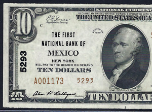 NY 1929 $10 TYPE-2 ♚♚MEXICO,NEW YORK♚♚ PCGS CH ABOUT NEW 58 PPQ BEST KNOWN!!!
