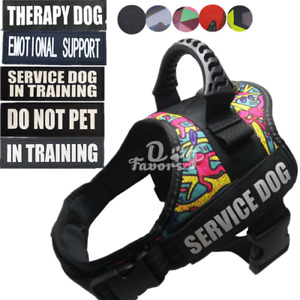 Service Dog Training Control Harness Vest Patches Emotional Support Therapy Dog