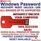 Windows Password Reset Recovery Red Key USB for ALL Windows - MasterTech USB