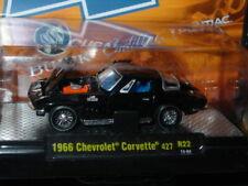 M2 MACHINES 1966 66 CHEVROLET CORVETTE COLLECTIBLE MUSCLE CAR -Black, MIP