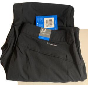 Columbia Saturday Trail II Convertible Pants, Women's Size 14, Black NEW