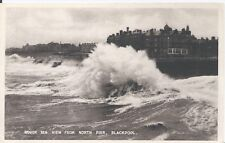 Postcard - Rough Sea from North Pier Blackpool Lancashire