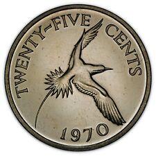 BERMUDA 25 CENTS 1970 PROOF *~*NICE EYE-APPEAL*~*