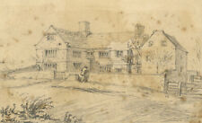 George Corson, New Hall, or Thorpe Hall, Yorkshire – 1853 graphite drawing