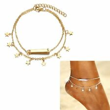 Star Multi-layer Anklet Foot Chain Leg Bracelet Sequins Jewelry