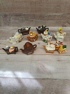 10 Miniature Paul Cardew teapots