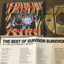SURVIVOR The Best Of Survivor JAPAN 24k GOLD CD D33Y0355 w/Insert+PS Free S&H