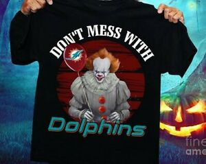 Miami Dolphins T-shirt NFL Sport Champs 2021 Funny Black Vintage Gift Halloween