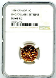 1979 CANADA CENT NGC MS67 RD COPPER UNCIRCULATED SET ISSUE COIN POP6 PENNY