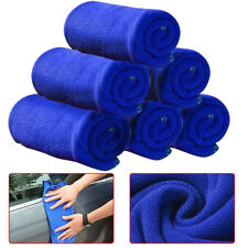 10x Blue Microfiber Washcloth Auto Car Care Cleaning Towels Soft Cloths Tool