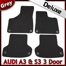 Audi A3 Mk2 3-Door 2003-2013 Tailored LUXURY 1300g Carpet Car Floor Mats GREY