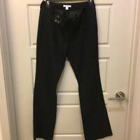 New York & Co.  Womens Stretch Black Dress Pants Sz 2