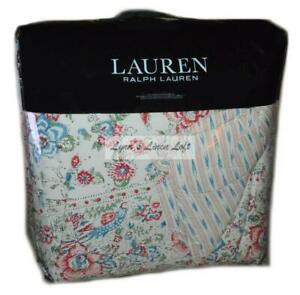 RALPH LAUREN Lucie Romantic Floral 3P FULL QUEEN COMFORTER SET Indian Motif $335