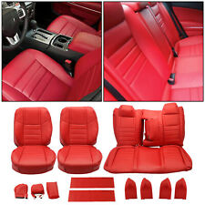 For 2011 2012 2013 2014 Dodge Challenger Se Sxt Rt Red Leather Seat Covers