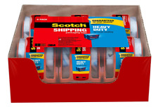New Scotch 142 6 Heavy Duty Shipping Packaging Tape 188 Inch X 800 Inch 6 Pack