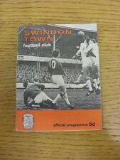 28/02/1967 Swindon Town v Grimsby Town (creased, team changes). Any faults with