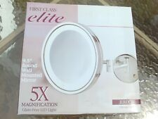 """JERDON 9.5"""" LED LIGHTED WALL MOUNTED MAKEUP MIRROR, 5X MAGNIFICATION HL1016CL"""