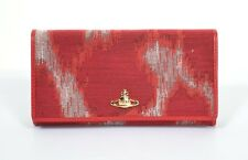 VIVIENNE WESTWOOD RED LEOPARD AFRICA ORB WALLET PURSE BOX BNWT XL