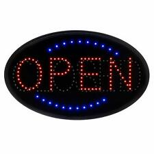 Alpine Industries 23 x 14 Oval Business Store Hanging LED Open Closed Sign