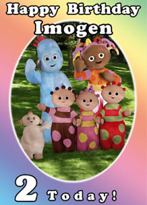 In The Night Garden Rainbow Personalised Birthday Card -Add your own name & age