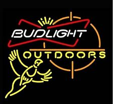 "New Bud Light Outdoors Pheasant Bar Beer Neon Sign 24""x20"""