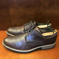 ECCO Round Toe Oxfords Men's Size US 12 EU 46 Brown Leather Lace-Up Dress Shoes