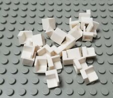 LEGO New Lot of 25 White City Modular 1x1x1 Corner Wall Panel Pieces