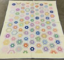 Hand Sewn Multi Colored Quilt Lot 2534