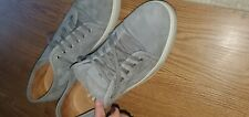 Pre-Owned, Santoni Suede Sneakers,size 13, Color Gray, $550