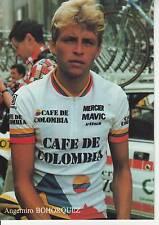 CYCLISME carte cycliste ANGEMIRO BOHORQUEZ TOUR DE FRANCE Troyes du 08/07/87