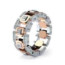 Large Wedding Rings For Men Size 10 New Fashion Rose Gold Color Cz Stone Hollow