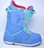 Burton Imprint 1 Trufit Women's Snowboard Boots Size 7 Baby Blue