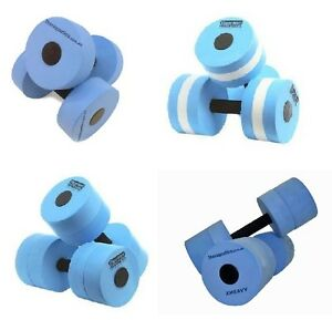 Fitness SWIM EXERCISE Water Workout DUMBBELLS Sold in Pairs Choose L-XHeavy