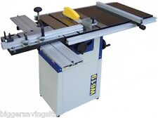 CHARNWOOD W619 CAST IRON TABLE SAW C/W SLIDING CARRIAGE & EXTENSION TABLES 240V
