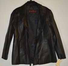 Vintage Leather Jacket Black Size Large
