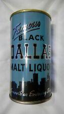 Flat Top Beer Can Black Dallas Malt Liquor Walter Brewing Pueblo Colo. 37-19